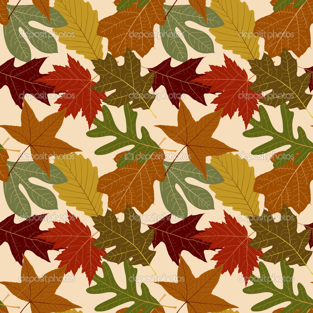Seamless Repeating Fall Leaf Background  Stock Vector #8996252
