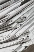 Stack of newspapers and magazines — Stock Photo
