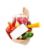 Groceries With List — Stock Photo