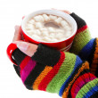 Stock Photo: Hot Chocolate for Cold Day