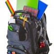 图库照片: Backpack With School Supplies