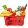 Stock Photo: Grocery Shopping Basket