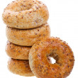 Multi-Grain Bagels — Stock Photo