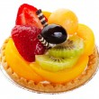 Asian Fruit Tart - Stock Photo