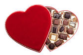 Heart Shaped Box of Chocolates — Stock Photo