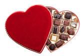 Heart Shaped Box of Chocolates — Stock Photo