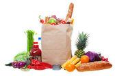 Sacco di generi alimentari — Foto Stock