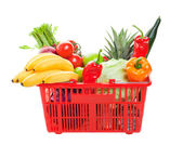 Grocery Shopping Basket — Stock Photo