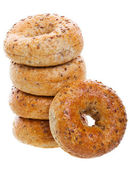Multi-Grain Bagels — Stock Photo