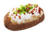 Patate al forno caricata — Foto Stock