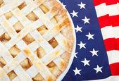 Amerikaans als appeltaart — Stockfoto