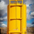 Stock Photo: Sloped Bottom Oil Storage Tank