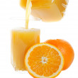 Pouring Orange Juice — Stock Photo