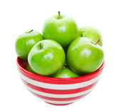 Bowl of Green Apples — Stock Photo