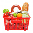 Stock Photo: Basket of Groceries
