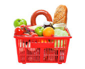 Basket of Groceries — Stock Photo