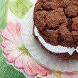 Stock Photo: Chocolate Cream Filled Cookie