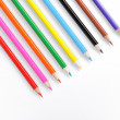 Color pencils on white background - Stock Photo