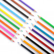 Colour pencils isolated on white background close up — Stock Photo