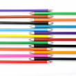 Close up of color pencils on white background — Stock Photo #10150190