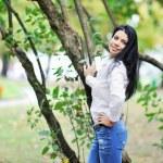 Beautiful woman portrait, outdoor shot — Stock Photo