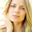 Closeup of beautiful female face — Stock Photo #10491019