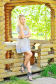 Sexy lady outdoors - Full length portrait — Stock Photo