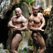 Two bodybuilders posing — Stock Photo