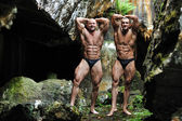 Two bodybuilders posing — Fotografia Stock