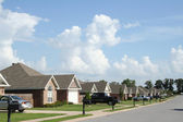 """The Neighborhood"" - Subdivision of fairly new homes. — Stock Photo"