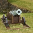 Old cannon on fortress in Faroe Islands — Stock Photo #10591806