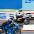 Stock Photo: Motorbike racing