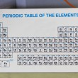 Stock Photo: Periodic Table of the Elements in the laboratory