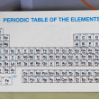 Periodic Table of the Elements in the laboratory — Stock Photo