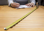 Measuring-calculating at home — Stock Photo