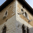 Mediterranean gothic house detail — Stock Photo