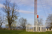 FM GSM 3G antenna tower — Stock Photo