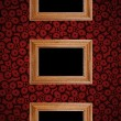 Royalty-Free Stock Photo: Frame on red wall
