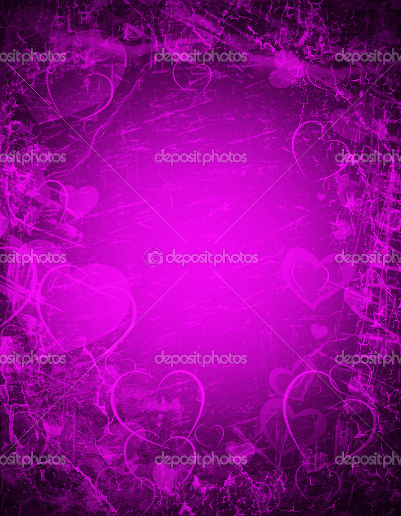 Purple background wit hearts  Stock fotografie #10220127