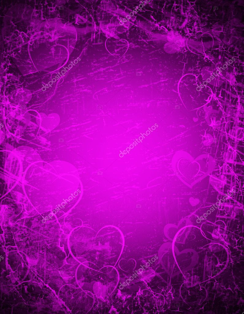 Purple background wit hearts — Stockfoto #10220127