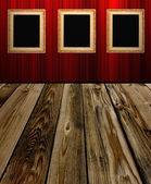 Frame an red wall in room 1 — Stock Photo