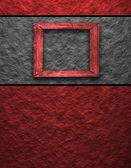 Cadre rouge — Photo