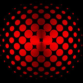 Red halftone — Stock Photo