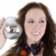 Young woman with disco ball (3) — Stock Photo #10470626
