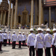 BANGKOK – MARCH 28: Soldiers prepare for the royal of crematio - Lizenzfreies Foto