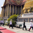 BANGKOK – MARCH 28: Soldiers prepare for the royal of crematio - Stock fotografie