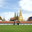 Temple of the Emerald Buddha, Bangkok Thailand. - Stock Photo