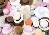 Various Fashion Hats — Stock Photo