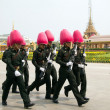 BANGKOK – MARCH 25: Soldiers prepare for the royal of crematio — Stock Photo