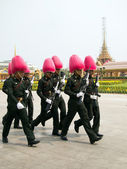 BANGKOK – MARCH 25: Soldiers prepare for the royal of crematio — Foto Stock